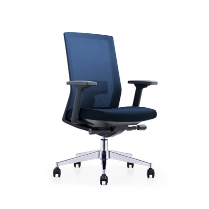Picture of RFG Office chair Alcanto W, upholstery and mesh, dark blue seat, dark blue backrest