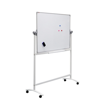 Picture of Top Office Magnetic whiteboard on wheels, two-sided, 90 x 120 cm
