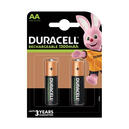 Picture of Duracell Rechargeable battery, NiMH, AA, 1300 mAh, 4 pcs
