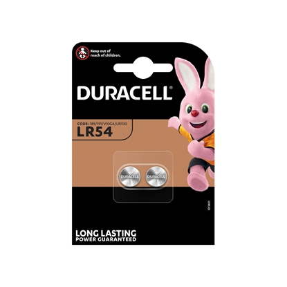 Picture of Duracell alkaline battery LR54, 1.5 V, 2 pcs