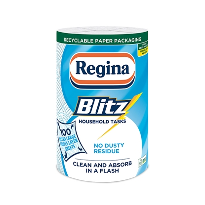Picture of Regina Kitchen towel Blitz, cellulose, three-ply, 1 piece