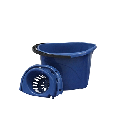 Picture of Planet Bucket, oval, with squeezer, 12 L, blue