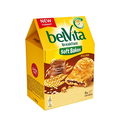Picture of Belvita Biscuits, soft, with chocolate filling, 250 g