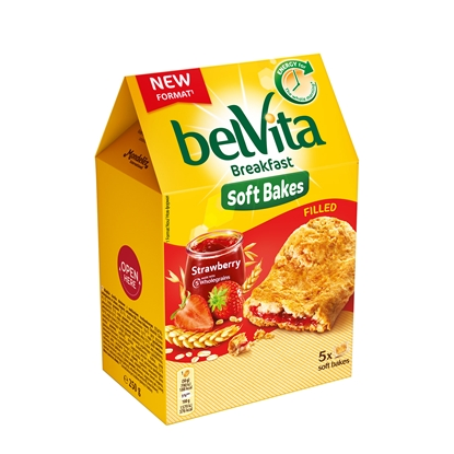 Picture of Belvita Biscuits, soft, with strawberry filling, 250 g