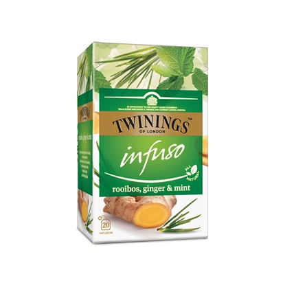 Picture of Twinings Rooibos, ginger and mint tea, herbal, 2g, in a package, 20 pieces