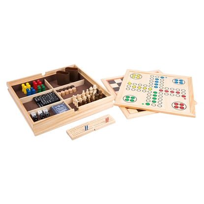 Picture of Collection of games 9 in 1, in a wooden box
