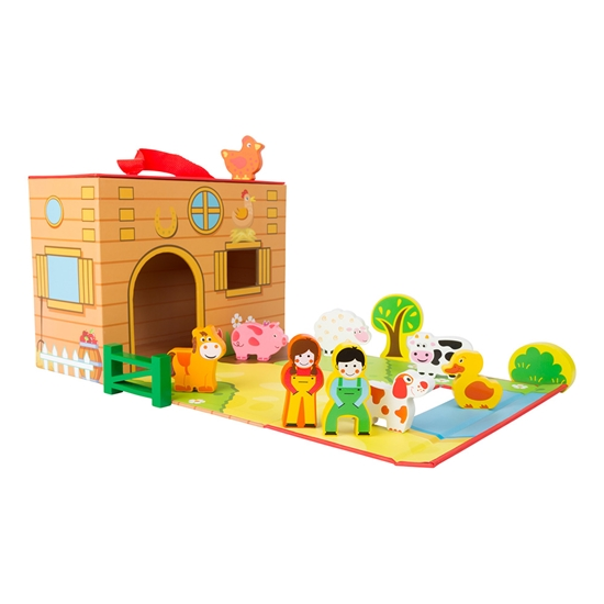 Picture of Farm play set, in a briefcase, 13 parts