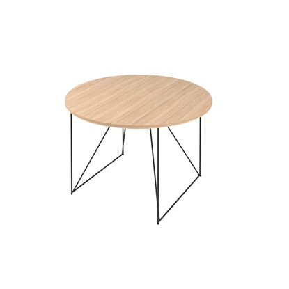 Picture of Narbutas Conference table Air, 1200x1200 x740 mm, Melamine amber oak, black metal