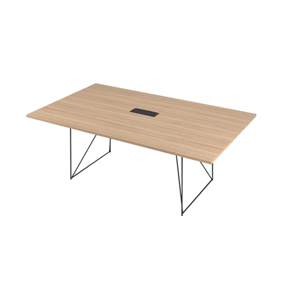 Picture of Narbutas Conference table Air, 2200x1300x740 mm, Melamine amber oak, black metal