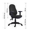 Picture of RFG Office chair Norton, black