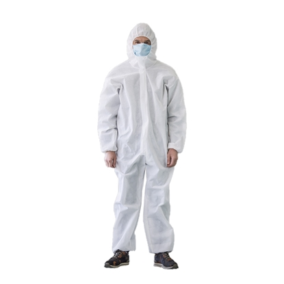 Picture of Protective overall, disposable, size L, white