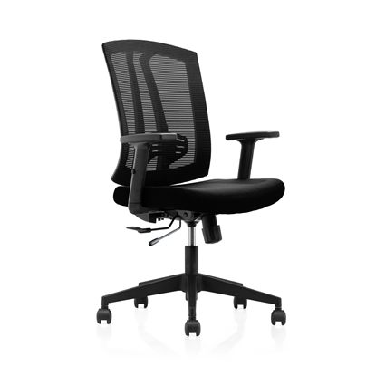 Picture of RFG Office chair Prime W, upholstery and mesh, black seat, black backrest