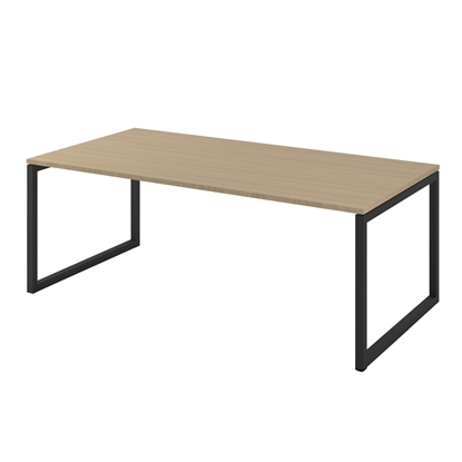 Picture of Narbutas Desk Nova Executive, 2000x1000x740 mm, bleached oak melamine, black metal, leg type O