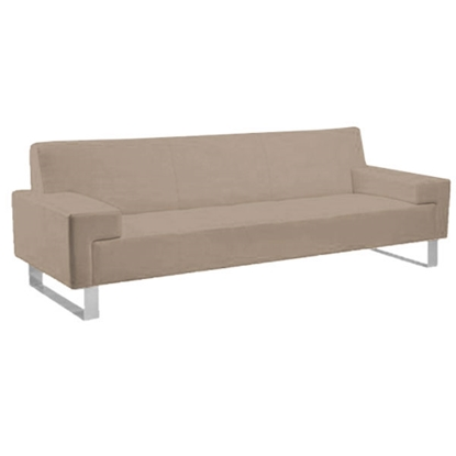 Picture of RFG Sofa triple Softline, base with chrome color, beige