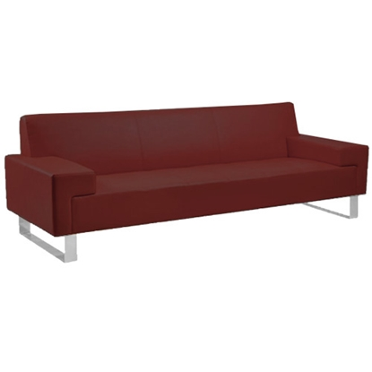 Picture of RFG Sofa triple Softline, base with chrome color, red