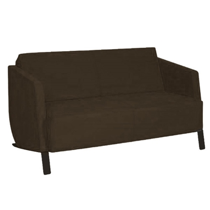 Picture of RFG Couple Planet sofa, with black base, brown