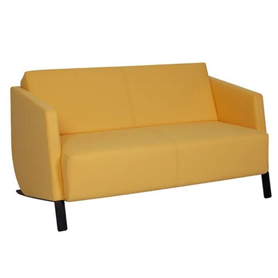 Picture of RFG Couple Planet sofa, with black base, yellow
