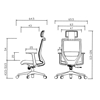 Picture of RFG Berry HB Director s Chair, mesh and upholstery, black seat, black back