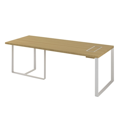 Picture of Narbutas Desk Plana, 2200x900x750 mm, oak veneer, white metal, white metal on the wire box