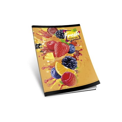 Picture of Notebook, A5,  lined, offset paper, soft covers, 40 sheets
