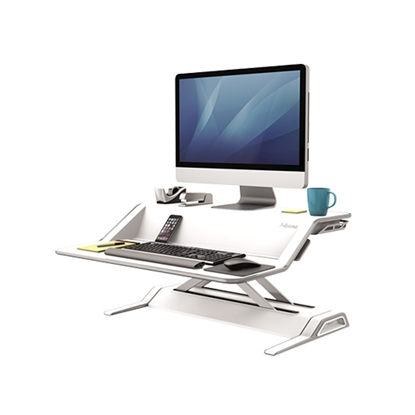 Picture of Fellowes Workstation Sit Stand, portable, white