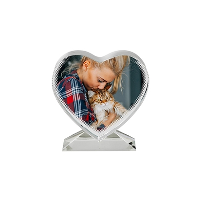 Picture of BESTSUB Crystal heart, 10.5 x 11 x 3.5 cm, customizable