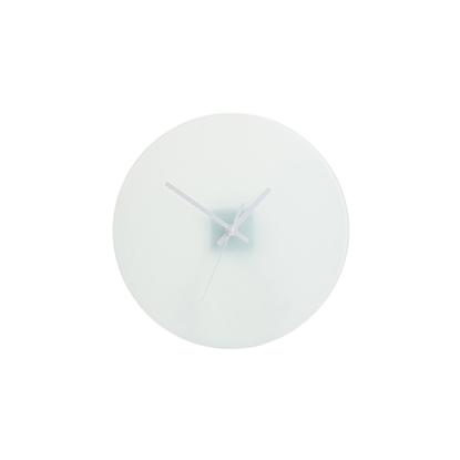 Picture of BESTSUB Wall clock, glass, diameter 30 cm, customizable