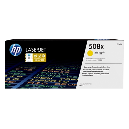 Picture of HP Toner CF362X, 508X, 9500 pages/5%, Yellow