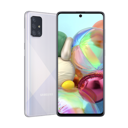 Снимка на Samsung Смартфон Galaxy A71, Dual SIM, 128 GB, 6 GB RAM, 86 MP камера, 4500 mAh, 6.7'', сребрист