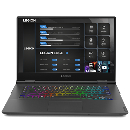 Picture of Lenovo Laptop Legion Y740 81UH005DBM, 15.6, Intel Core i7, 512 GB SSD, 16 GB RAM, black