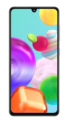 Снимка на Samsung Смартфон Galaxy A41, Dual SIM, 64 GB, 4 GB RAM, 61 MP камера, 3500 mAh, 6.1'', бял