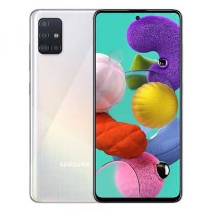 Снимка на Samsung Смартфон Galaxy A51, Dual SIM, 128 GB, 4 GB RAM, 70 MP камера, 4000 mAh, 6.5'', бял
