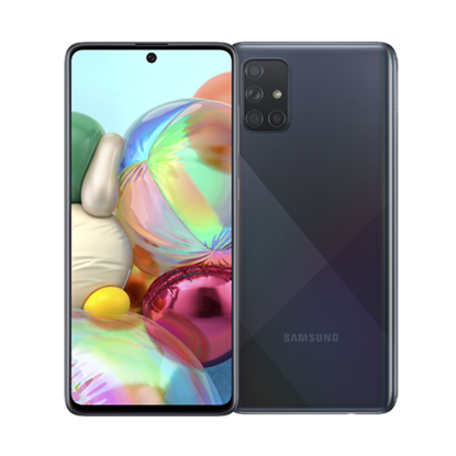 Снимка на Samsung Смартфон Galaxy A71, Dual SIM, 128 GB, 6 GB RAM, 86 MP камера, 4500 mAh, 6.7'', черен