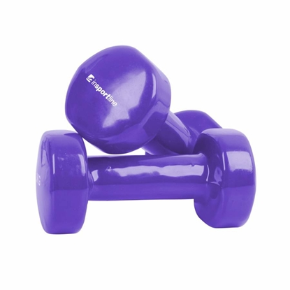 Picture of Set dumbbells, vinyl, purple, 2 x 1 kg