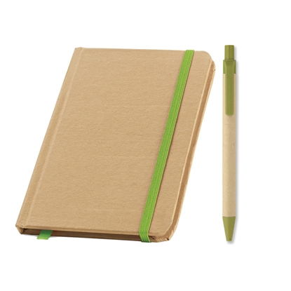 Picture of Set eco notebook Evernote and eco ballpoint pen Cartoon, green, 50 pcs.