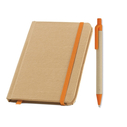 Picture of Set exo notebok Evernote and eco ballpoint pen Cartoon, orange, 50 pcs.