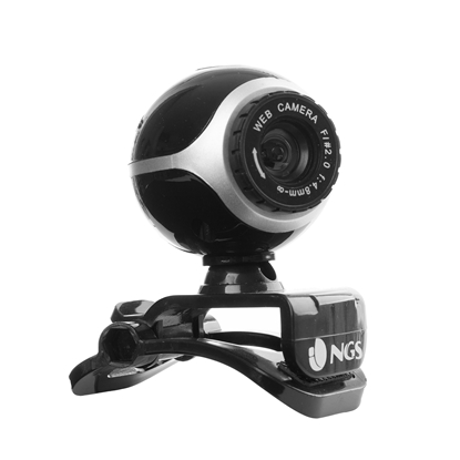 Picture of NGS Webcam Xpresscam300, VGA, CMOS, 5 Mpx, with microphone, black