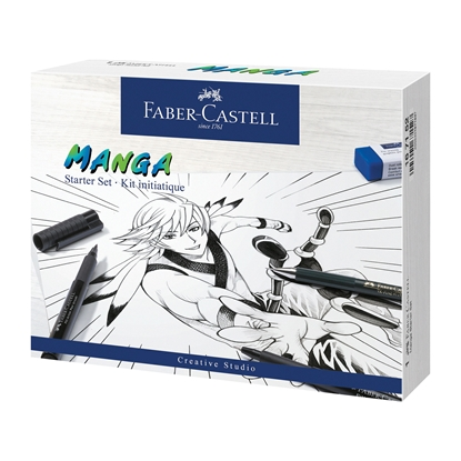 Picture of Faber-Castell set Pitt Manga Starter, pencil, nib and eraser