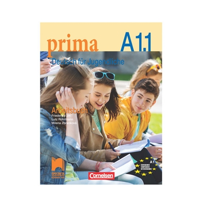 Picture of German workbook Prima A1.1, Deutsch Fur Jugendliche, for 9rd grade, second foreign language, Prosveta
