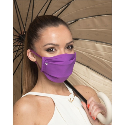 Picture of New Silhouette Reusable face mask, three-layered, for women, purple
