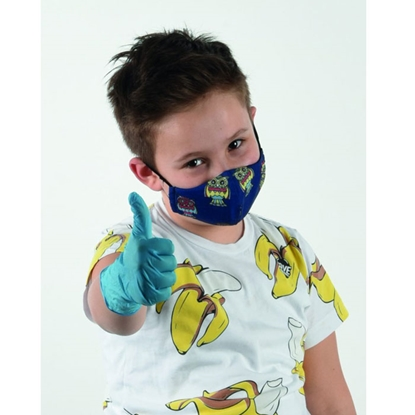Picture of New Silhouette Reusable face mask, three-layered, for children, blue