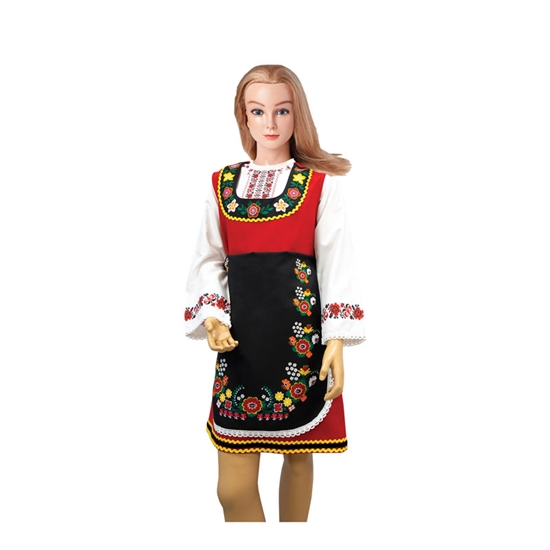 Picture of Pinafore Bendida, for folk costume, with prints, for 12-year-olds