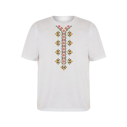 Picture of T-shirt with folklore motifs, short sleeves,for children, option 3