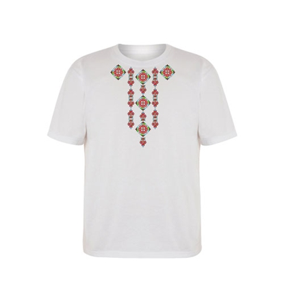 Picture of T-shirt with folklore motifs, short sleeves, option 1