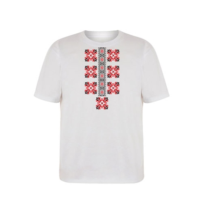 Picture of T-shirt with folklore motifs, short sleeves, option 2