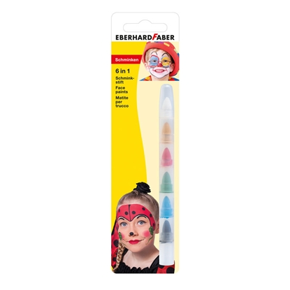 Picture of Eberhard Faber Face chalks, mini, 6 colours