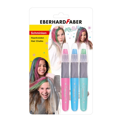 Picture of Eberhard Faber Hair chalks, metallic, 3 colours