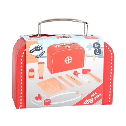 Picture of Small Foot Game set Doctor's case, wooden, 9 pcs.