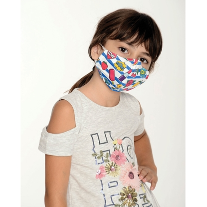 Picture of New Silhouette Reusable face mask WOW, two-layer, for children, 8 - 12 year-olds