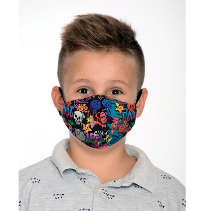 Picture of New Silhouette Reusable face mask Cool, two-layer, for children, 8 - 12 year-olds
